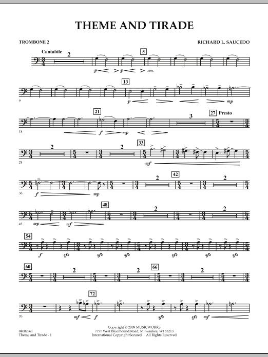 Theme and Tirade - Trombone 2 (Concert Band)