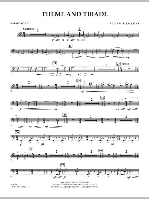 Theme and Tirade - Baritone B.C. (Concert Band)