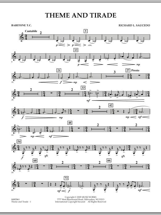 Theme and Tirade - Baritone T.C. (Concert Band)