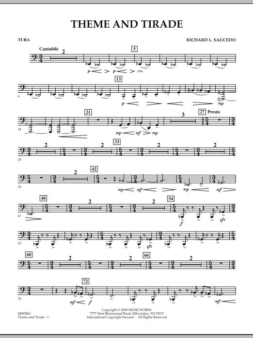 Theme and Tirade - Tuba (Concert Band)