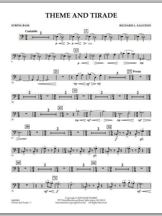 Theme and Tirade - String Bass (Concert Band)
