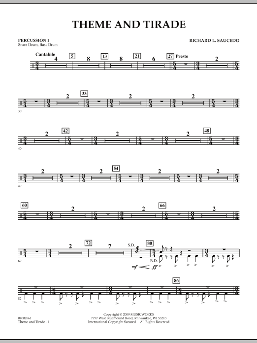 Theme and Tirade - Percussion 1 (Concert Band)