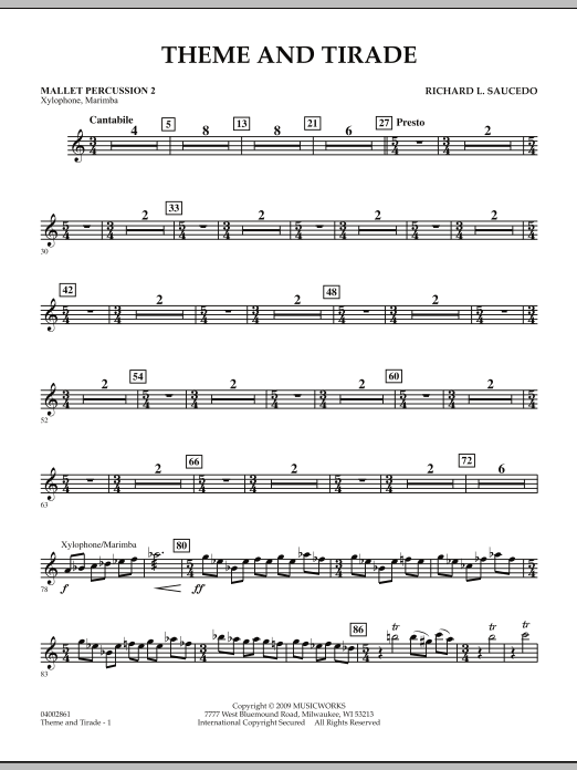 Theme and Tirade - Mallet Percussion 2 (Concert Band)
