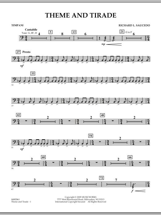 Theme and Tirade - Timpani (Concert Band)