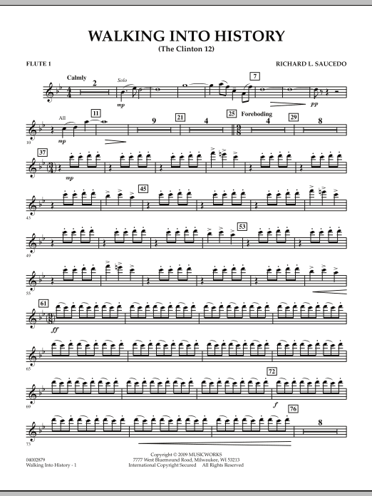 Walking into History (The Clinton 12) - Flute 1 (Concert Band)