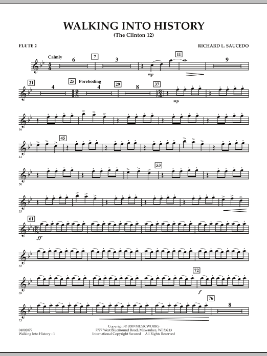 Walking into History (The Clinton 12) - Flute 2 (Concert Band)