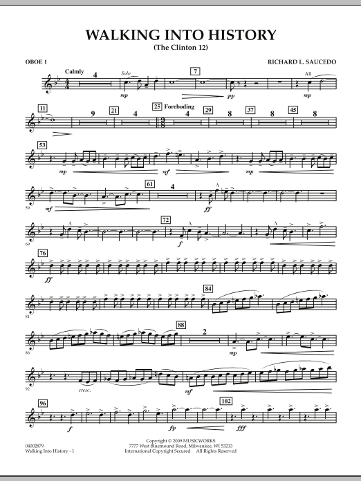 Walking into History (The Clinton 12) - Oboe 1 (Concert Band)