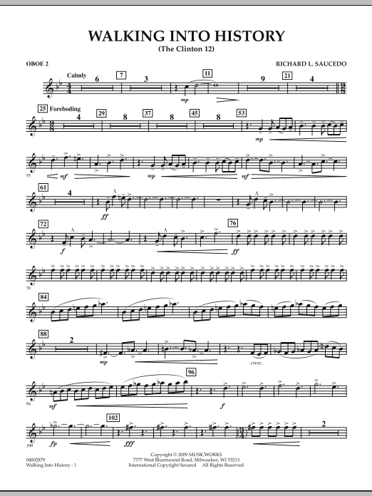 Walking into History (The Clinton 12) - Oboe 2 (Concert Band)