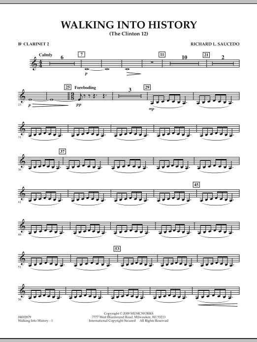 Walking into History (The Clinton 12) - Bb Clarinet 2 (Concert Band)