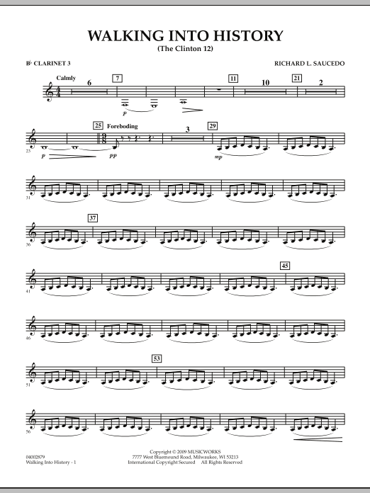 Walking into History (The Clinton 12) - Bb Clarinet 3 (Concert Band)