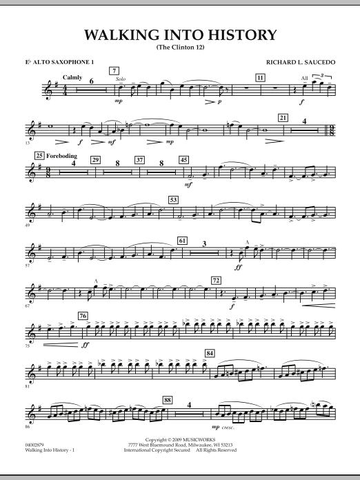 Walking into History (The Clinton 12) - Eb Alto Saxophone 1 (Concert Band)
