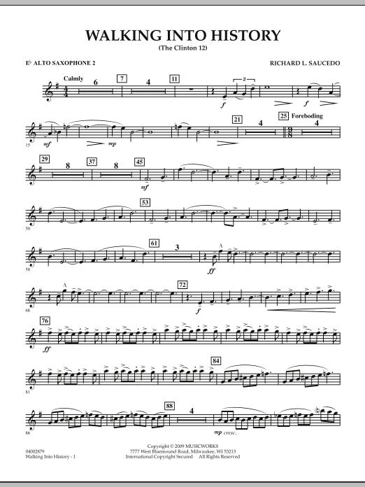 Walking into History (The Clinton 12) - Eb Alto Saxophone 2 (Concert Band)
