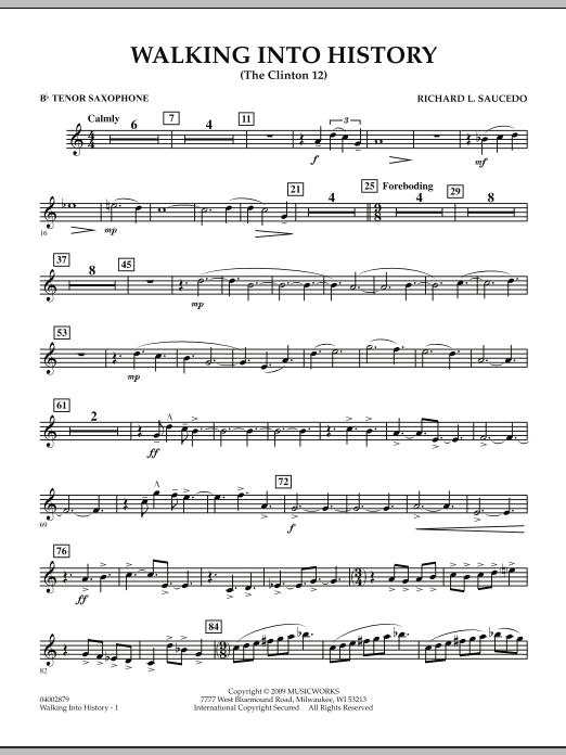 Walking into History (The Clinton 12) - Bb Tenor Saxophone (Concert Band)