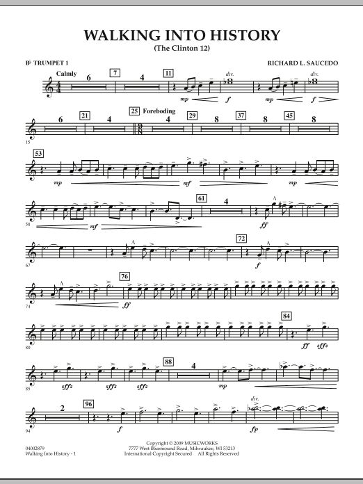 Walking into History (The Clinton 12) - Bb Trumpet 1 (Concert Band)