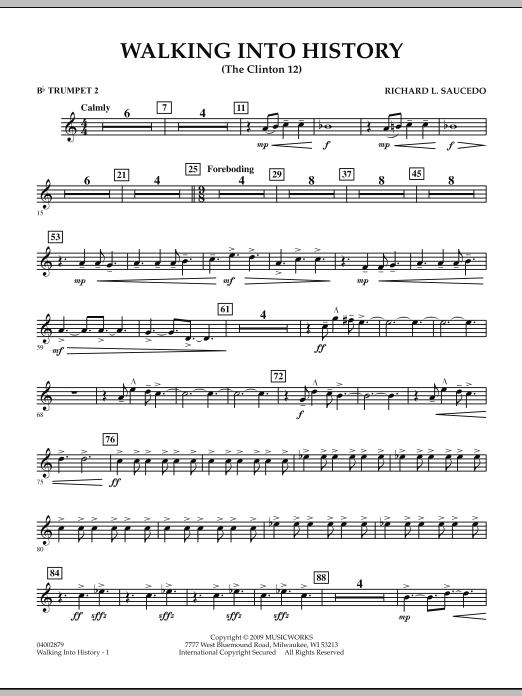 Walking into History (The Clinton 12) - Bb Trumpet 2 (Concert Band)