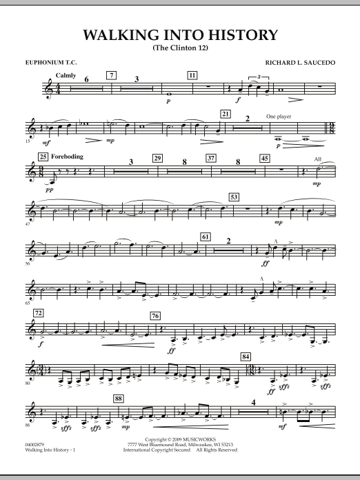 Walking into History (The Clinton 12) - Euphonium in Treble Clef (Concert Band)