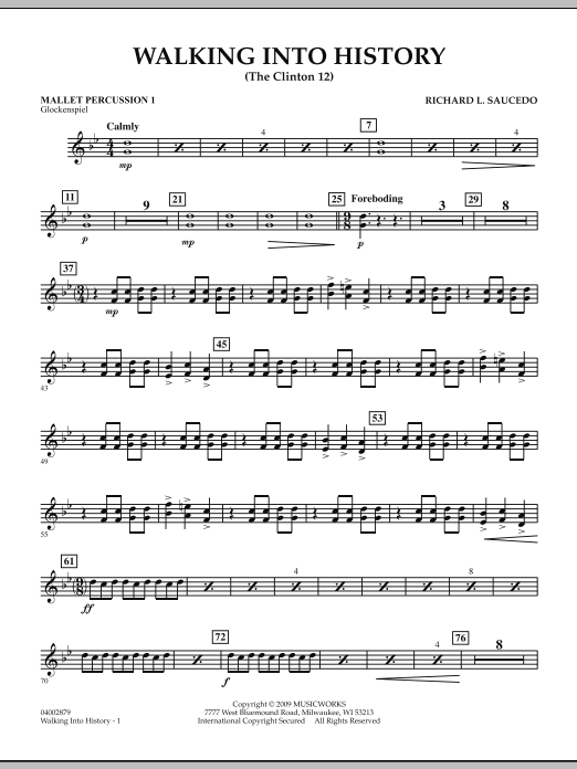 Walking into History (The Clinton 12) - Mallet Percussion 1 (Concert Band)
