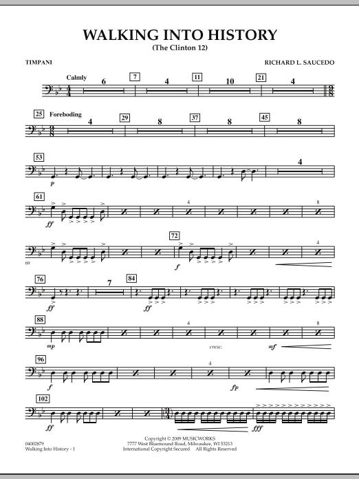 Walking into History (The Clinton 12) - Timpani (Concert Band)
