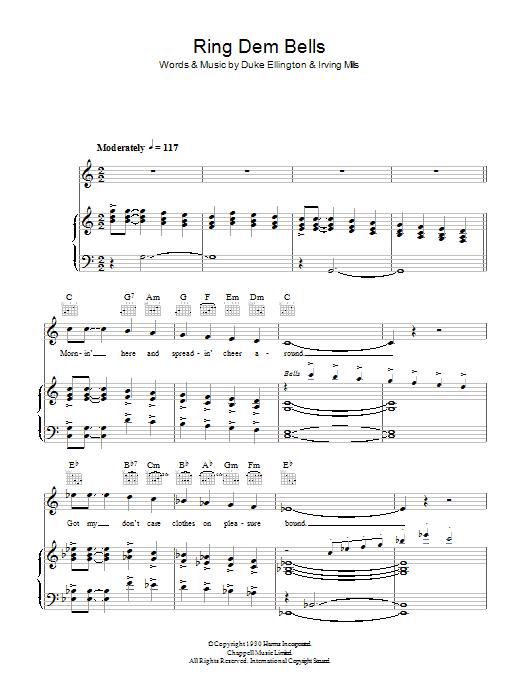 Ring Dem Bells (Piano, Vocal & Guitar)