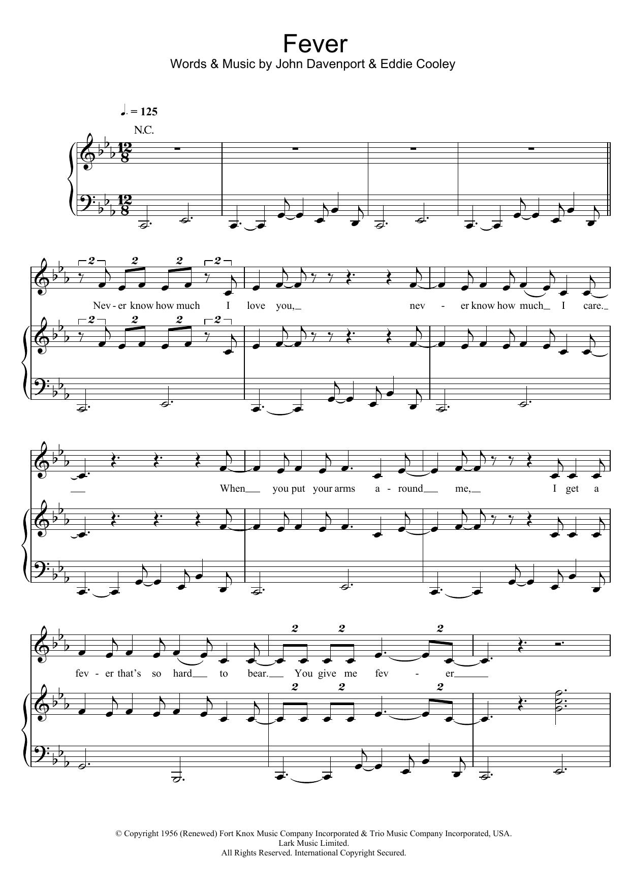 Fever (Piano, Vocal & Guitar)