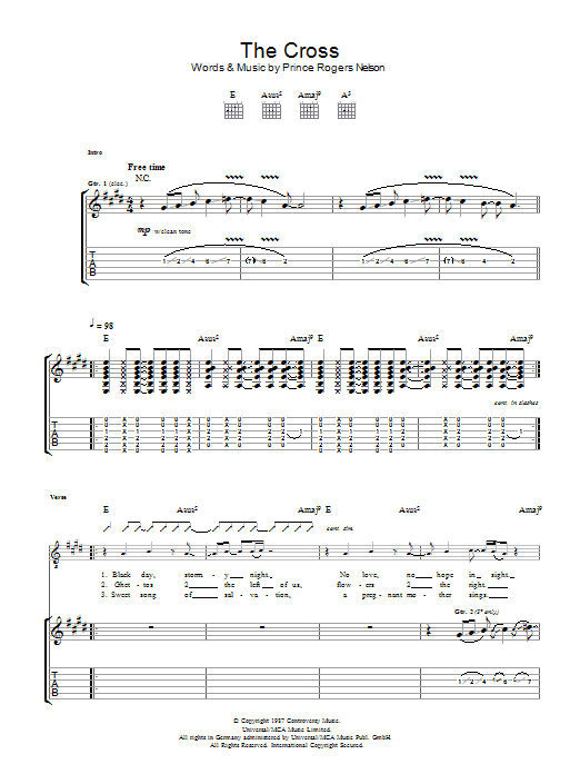 The Cross (Guitar Tab)