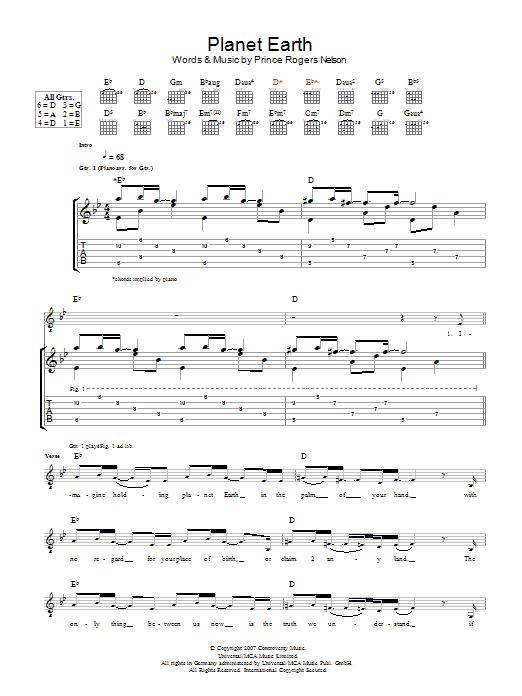 Planet Earth Sheet Music