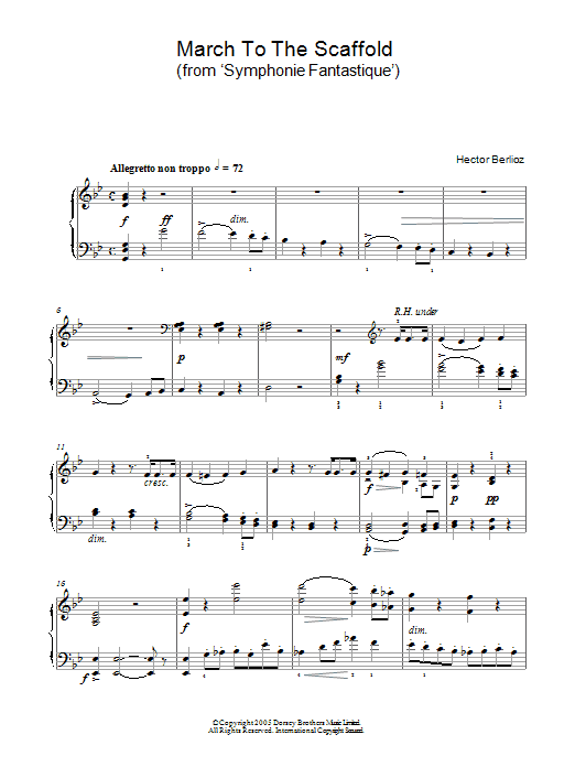 March To The Scaffold (from Symphonie Fantastique) Sheet Music