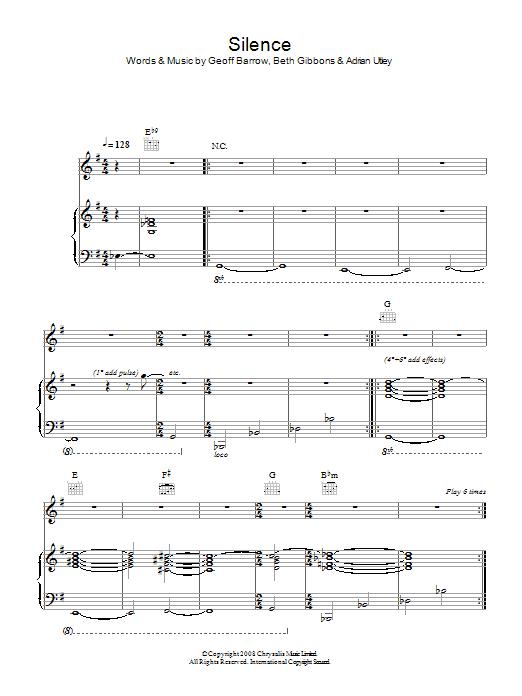 Silence (Piano, Vocal & Guitar)