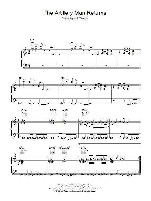 The Artilleryman Returns (from War Of The Worlds) Sheet Music