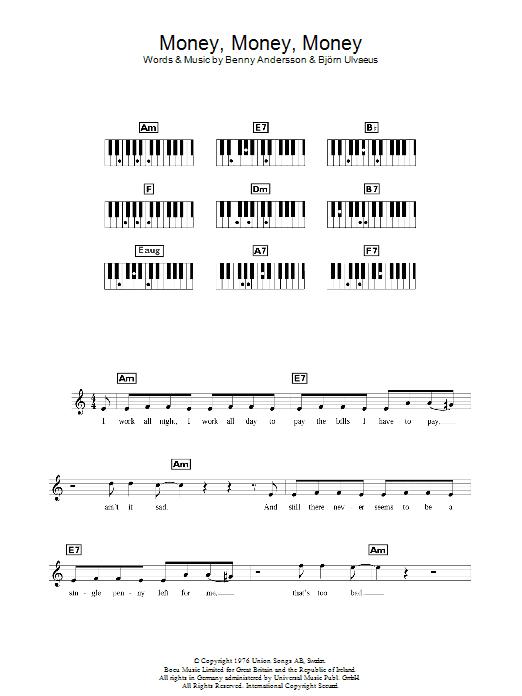 Money, Money, Money (Piano Chords/Lyrics)