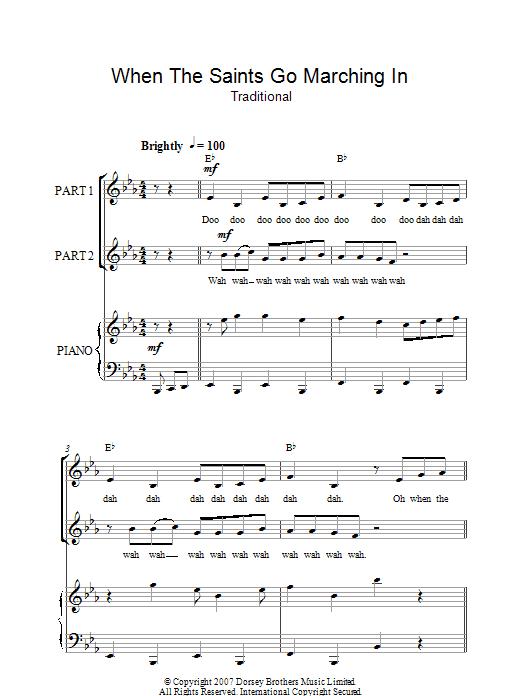 When The Saints Go Marching In (arr. Rick Hein) (2-Part Choir)