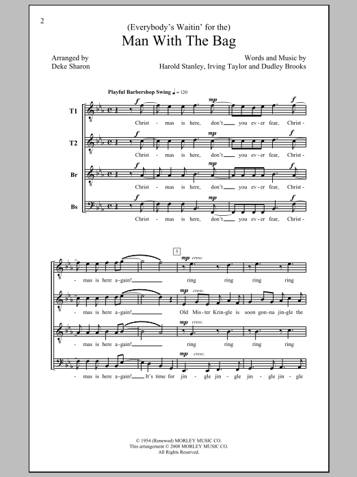 (Everybody's Waitin' For) The Man With The Bag Sheet Music