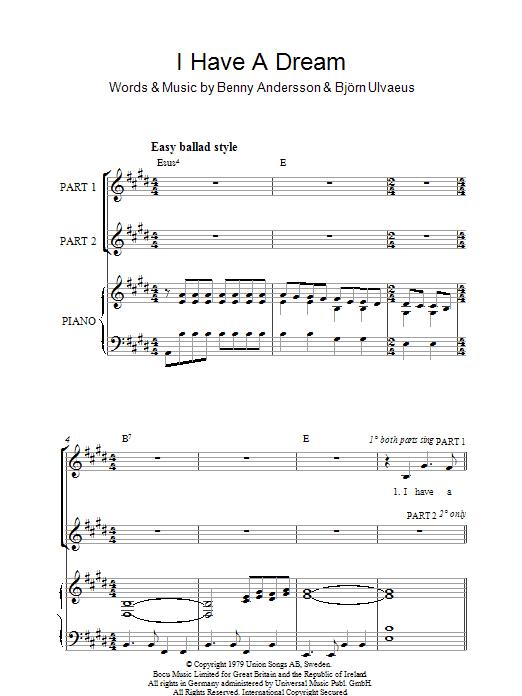 I Have A Dream (arr. Rick Hein) (2-Part Choir)
