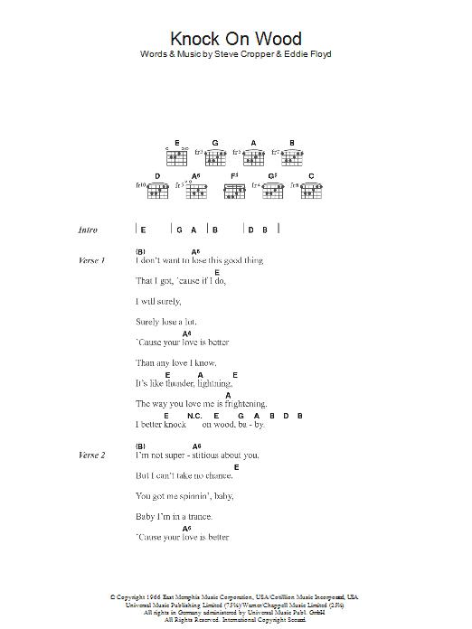 Knock On Wood Sheet Music