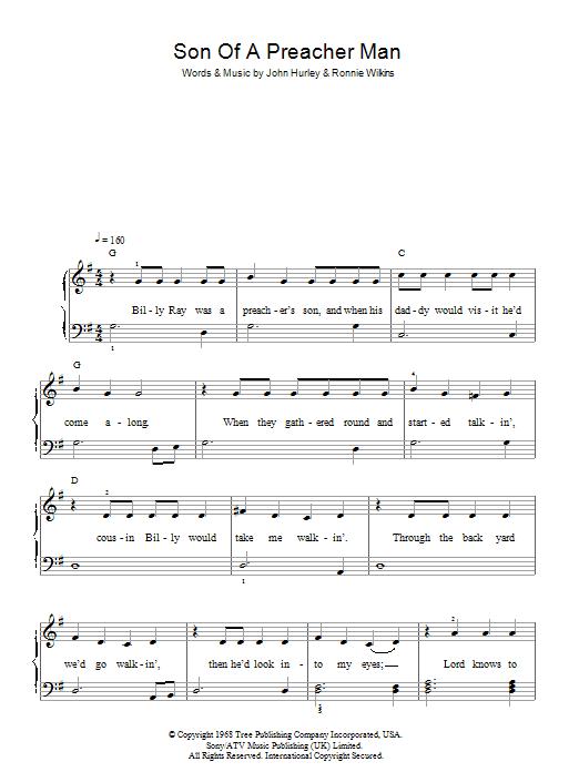 Son-Of-A-Preacher Man (Easy Piano)