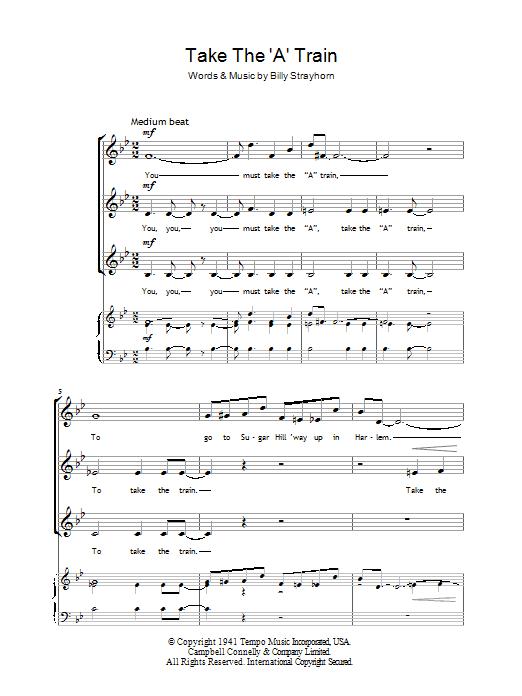 Take The 'A' Train (SSA Choir)