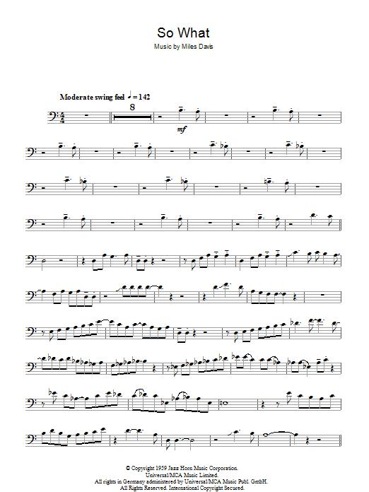 So What (Trombone Solo)