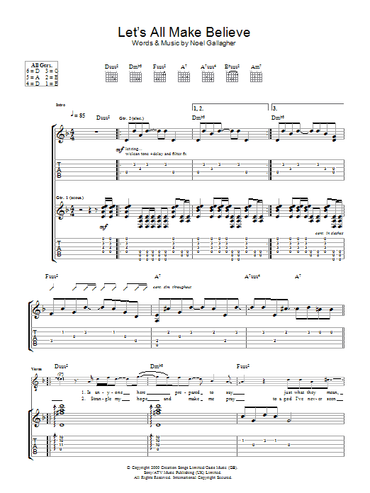 Let's All Make Believe (Guitar Tab)