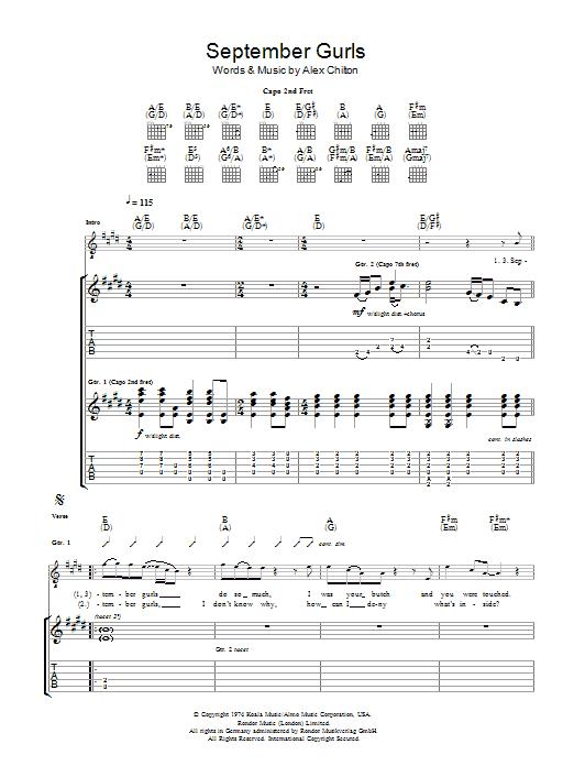 September Gurls (Guitar Tab)