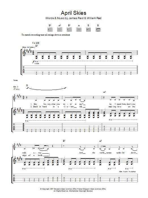 April Skies (Guitar Tab)