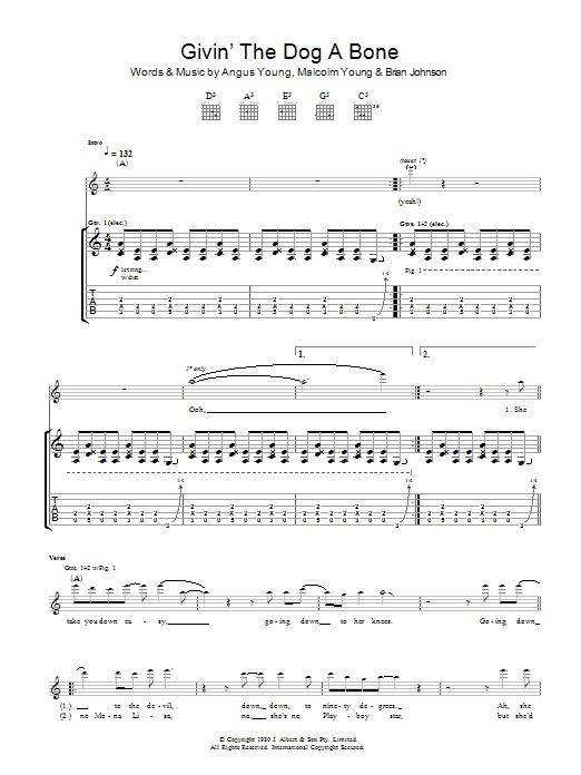 Givin' The Dog A Bone (Guitar Tab)