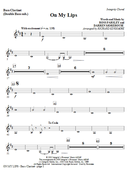 On My Lips - Bassoon (Cello sub.) Sheet Music
