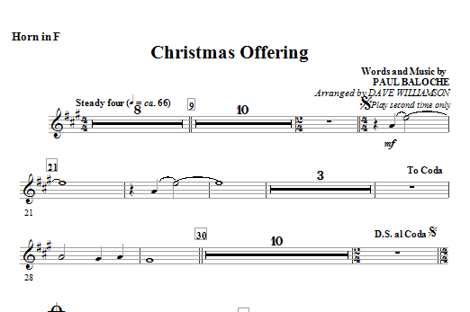 Christmas Offering - Horn in F Sheet Music