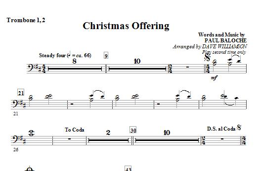 Christmas Offering - Trombone 1 & 2 Sheet Music