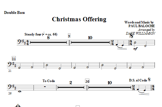 Christmas Offering - Alto Sax (Horn sub.) Sheet Music