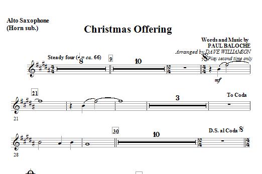 Christmas Offering - Tenor Sax (Trombone 2 sub.) Sheet Music