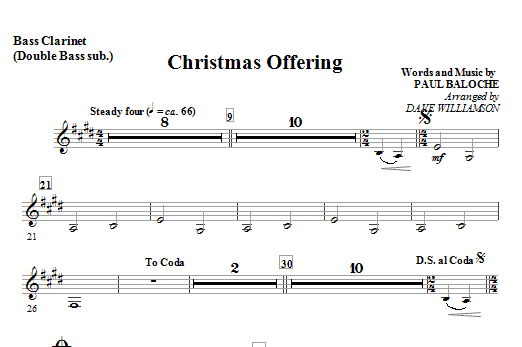 Christmas Offering - Bassoon (Cello sub.) Sheet Music