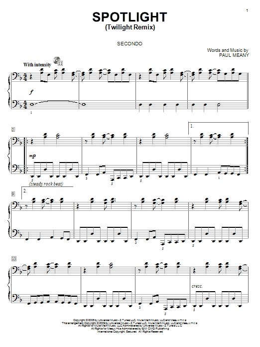 Spotlight (Twilight Remix) Sheet Music