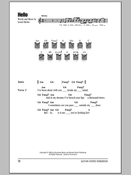 Hello Sheet Music