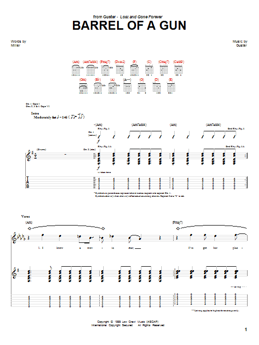Barrel Of A Gun (Guitar Tab)